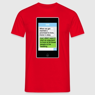 SMS - Wedding - Men's T-Shirt