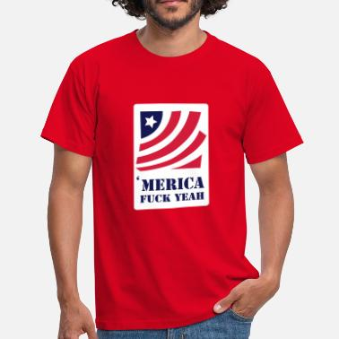 america - fuck yeah - T-shirt Homme