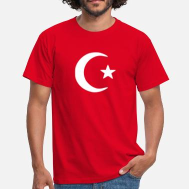 Crescent Islam - Crescent moon - Star  - Men's T-Shirt