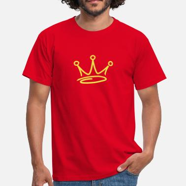 Crown Graffiti graffiti style crown - Men's T-Shirt