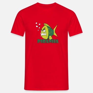 piranha fish 2.png - Men's T-Shirt
