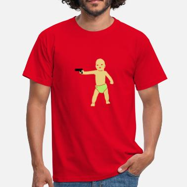 Diapers baby gun  - Men's T-Shirt