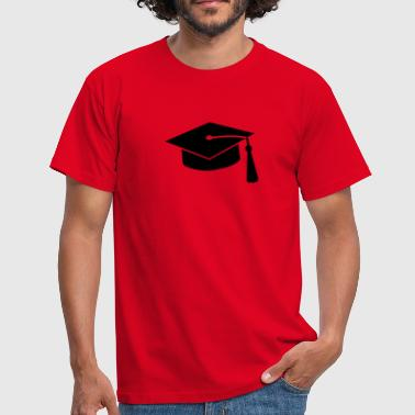 graduation hat v2 - Herre-T-shirt