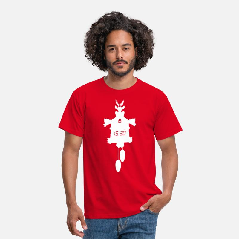 Digital T-Shirts - Digital Cuckoo Clock - Men's T-Shirt red