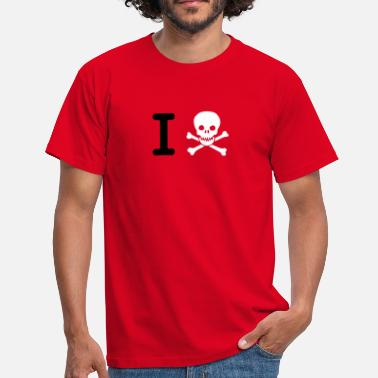 Text I hate (I Skull) - Männer T-Shirt