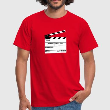Klappe - clapperboard (writable flex) - Männer T-Shirt