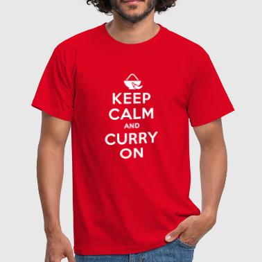 Keep calm and curry on - Mannen T-shirt