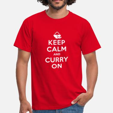 Curry Keep calm and curry on - Mannen T-shirt