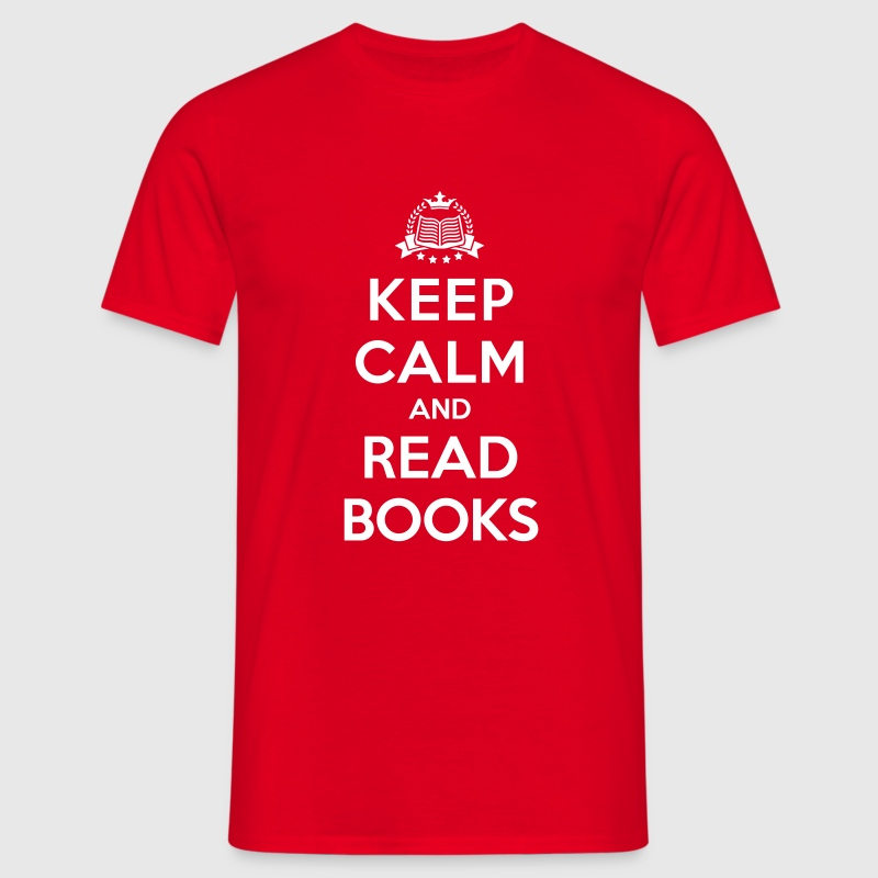 Keep calm and read books - T-shirt Homme
