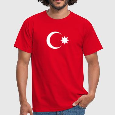 azerbaijan moon star eight 8 pointed - Men's T-Shirt
