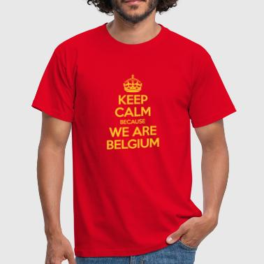 Keep Calm Because We Are Belgium - T-shirt Homme