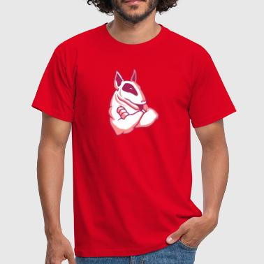 English Standard Bull Terrier Bullterrier Mascot 3c - Men's T-Shirt