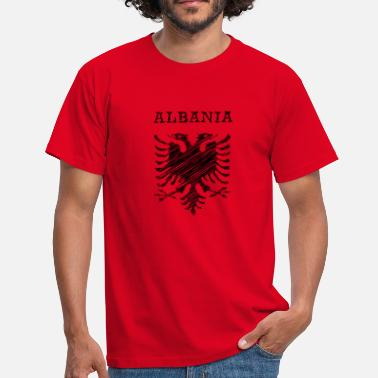 Albania, scribble black - Männer T-Shirt