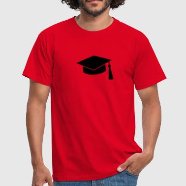 graduation hat - Herre-T-shirt
