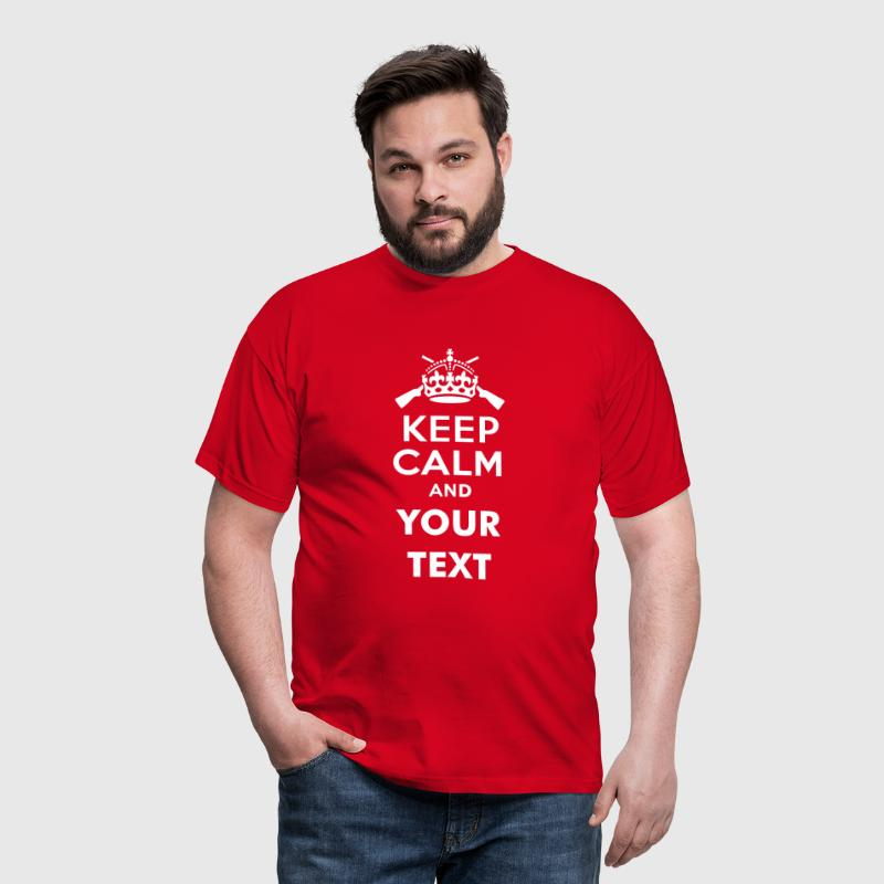 keep_calm_and_shooter_text - Camiseta hombre