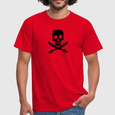 Piratenflagge - Männer T-Shirt