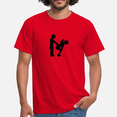 Bachelor straight couple - Mannen T-shirt