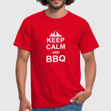 keep calm and BBQ - Maglietta da uomo