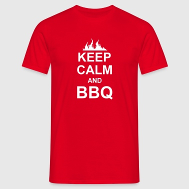 keep calm and BBQ - T-shirt Homme