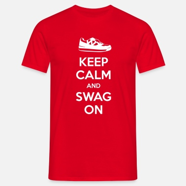 KEEP CALM AND SWAG ON - Mannen T-shirt