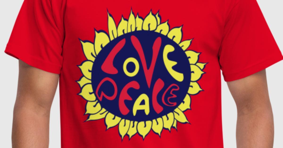 blume love and peace, hippie tattoo style von patystyle | Spreadshirt