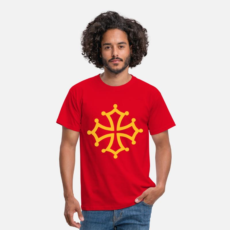 Occitanie T-Shirts - croix occitane - Men's T-Shirt red