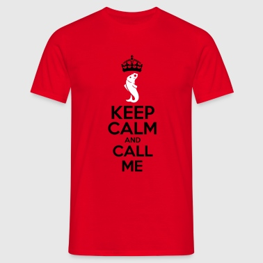 keep calm truite - T-shirt Homme