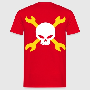 skull mechanical engineer - Men's T-Shirt