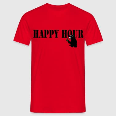 happy hour  - Männer T-Shirt