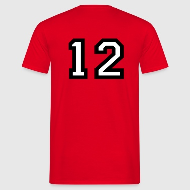 The number 12 - number twelve - Men's T-Shirt