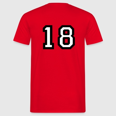 The number 18 - number eighteen - Men's T-Shirt