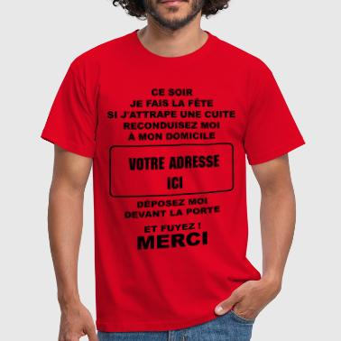alcool humour - T-shirt Homme