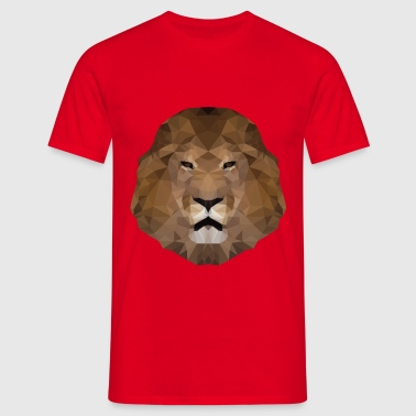 Lions Head low-polygoon effect - Mannen T-shirt