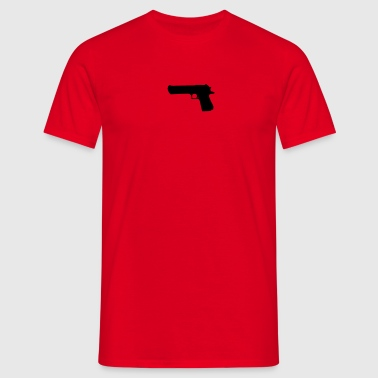 weapon - desert eagle - Men's T-Shirt