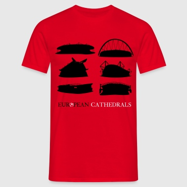 European football cathedrals  - Men's T-Shirt