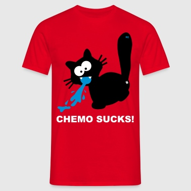 Kotze Katze Chemo Sucks Brustkrebs Krebs Cancer - Men's T-Shirt