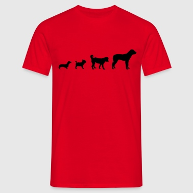 Dog Evolution  - Men's T-Shirt