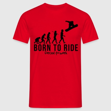 snowboarding evolution born to ride forc - T-shirt Homme