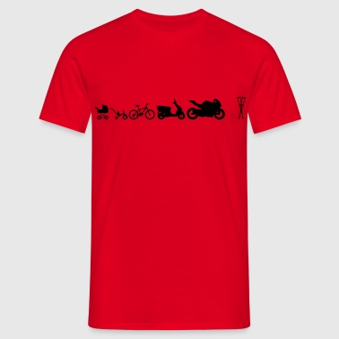 Motorcycle Evolution crutches  - Men's T-Shirt