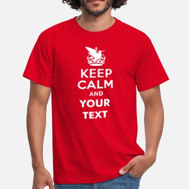 Caza keep_calm_and_bird_hunt_text - Camiseta hombre