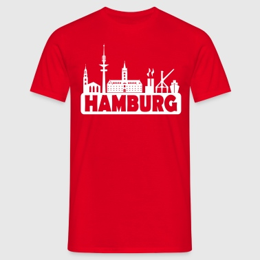 Skyline Hamburg - Hamburger Skyline - Männer T-Shirt