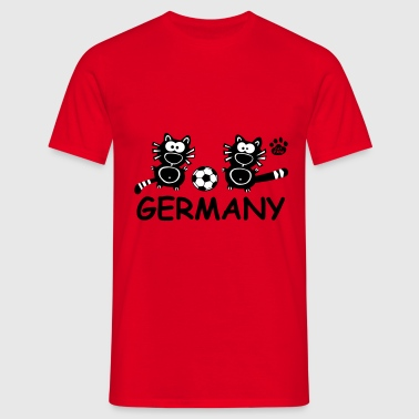 Catpaw Cat Cats Comic Germany Deutschland Cool  - Men's T-Shirt