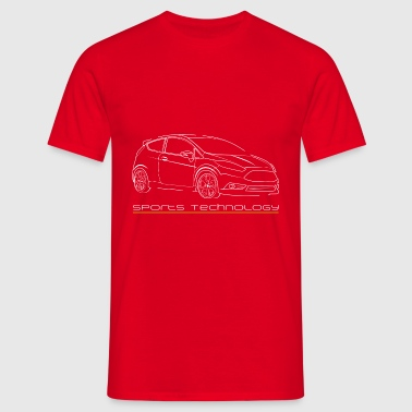 Fiesta MK7 ST Line car tshirt sports technology - Männer T-Shirt