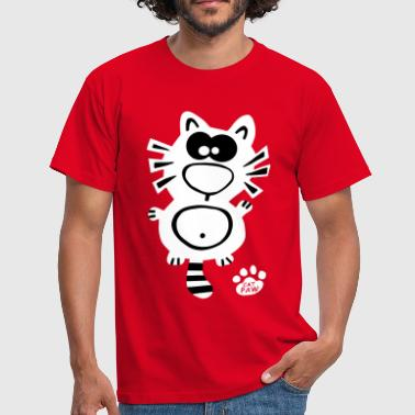 Katze Katzen Catpaw Design Cat Cats niedlich Fun - Men's T-Shirt