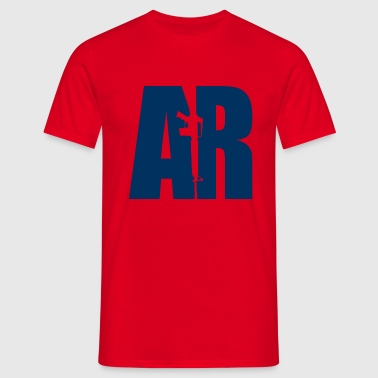 AR15 BLUE - Men's T-Shirt