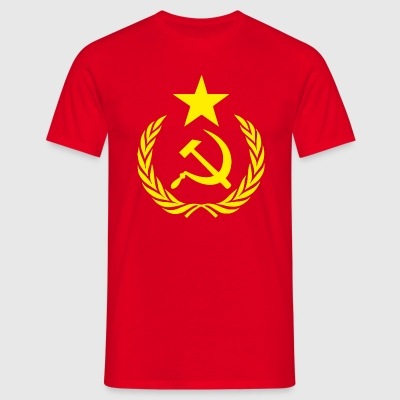Flag Communists and Symbols - Men's T-Shirt