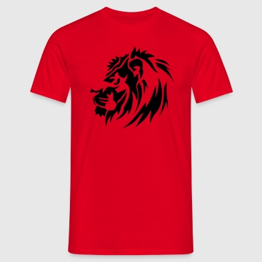 lion sauvage animaux tribal 1710 - T-shirt Homme