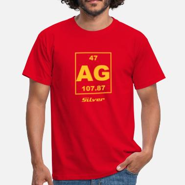 Silver Ag 47 Element 47 - Ag (silver) - Small - T-shirt Homme