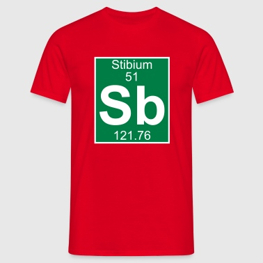Stibium (Sb) (element 51) - Men's T-Shirt