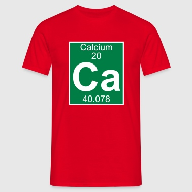Elements 20 - ca (calcium) - Full (white) - Camiseta hombre